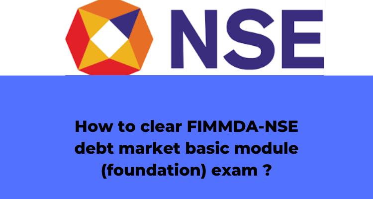 FIMMDA-NSE exam?