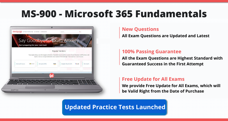 MS-900 - Microsoft 365 Fundamentals - Updated Practice Tests Launched