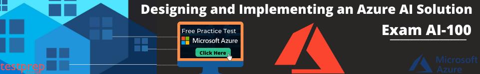 Azure AI-100 practice test