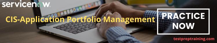 CIS-Application Portfolio Management - Practice Tests