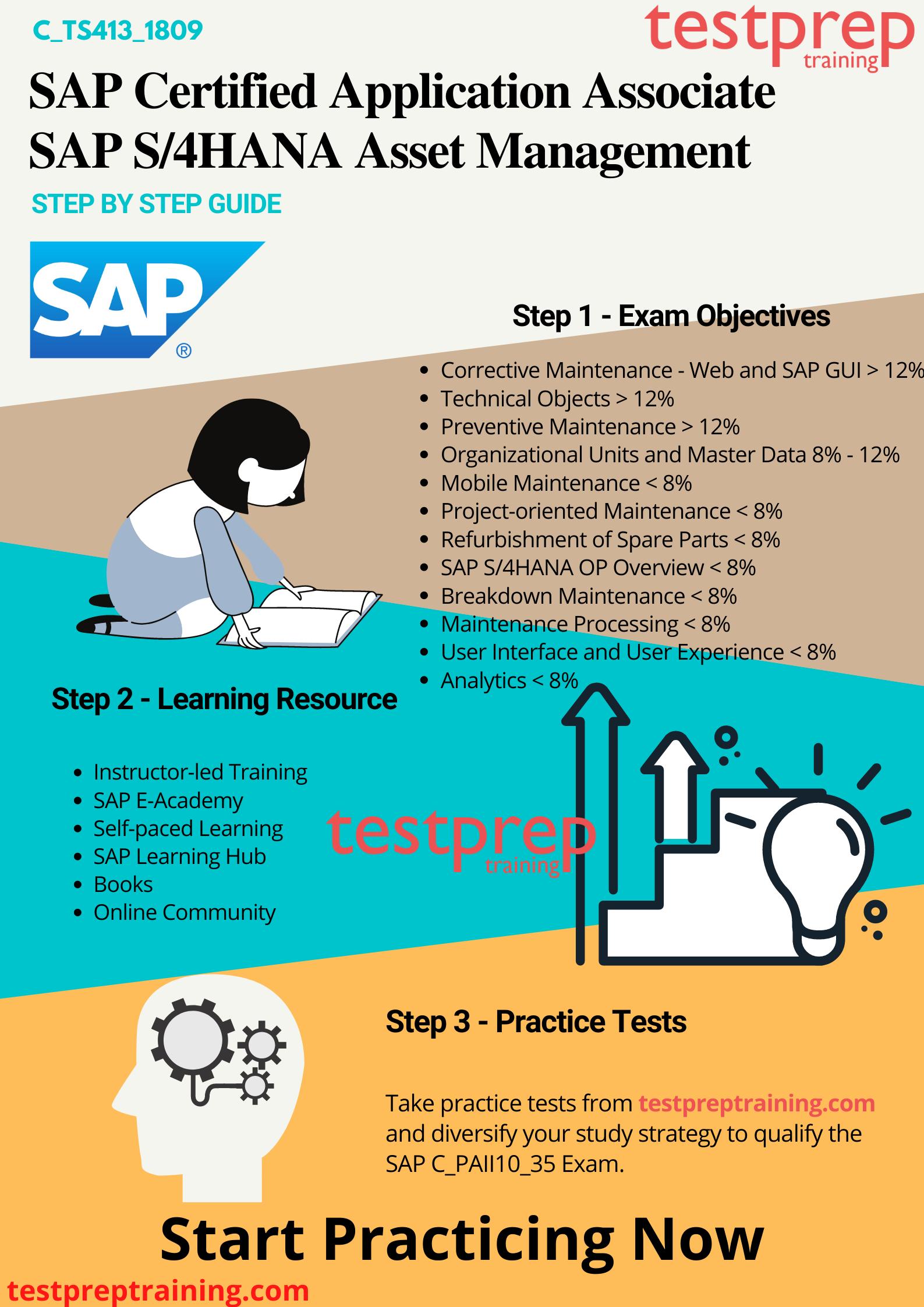 Preparation Guide - C_TS413_1809 - SAP S/4HANA Asset Management Exam