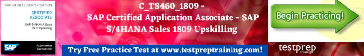 C_TS460_1809 - SAP Certified Application Associate Free Practice Test