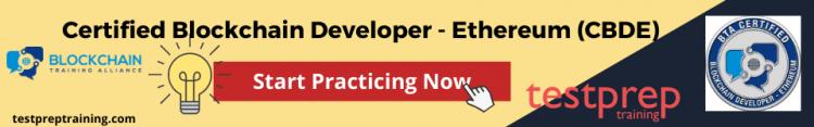 Certified Blockchain Developer - Ethereum (CBDE) Practice Tests