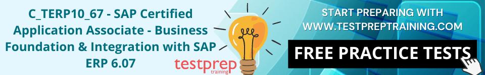C_TERP10_67 – SAP Free Practice Test